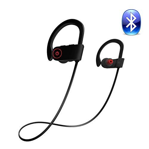 Glückluz Auriculares Bluetooth Mejores Auriculares Deportivos Inalámbricos Mic IPX7 Impermeable HD Auriculares Etéreo a...