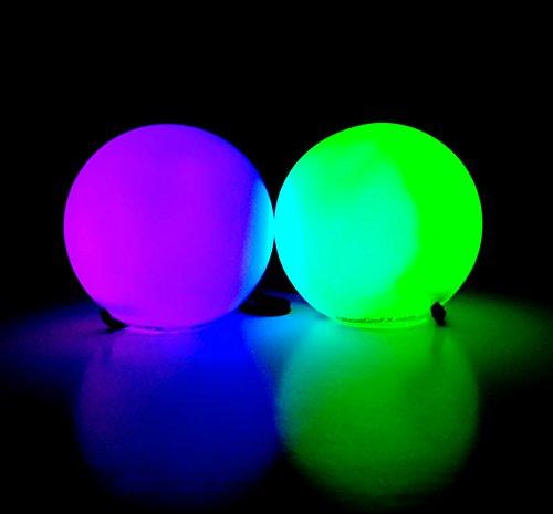 GloFX LED Poi Balls: 9-Mode Flow Light Up Rave Balls