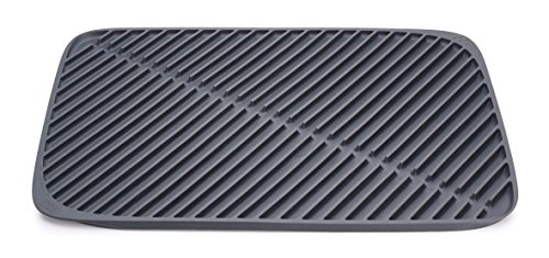 Joseph Joseph 85089 Flume Folding Draining Mat, Gray, Large