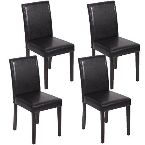 Urban Style Solid Wood Leatherette Padded Parson Dining Chairs Set Of 2 (4, - Attache Poker