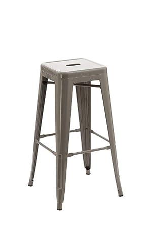 Duhome Tabouret de Bar en métal Fer Gris empilable Design Industriel  sélection de Coleur 665D 271312b4c404