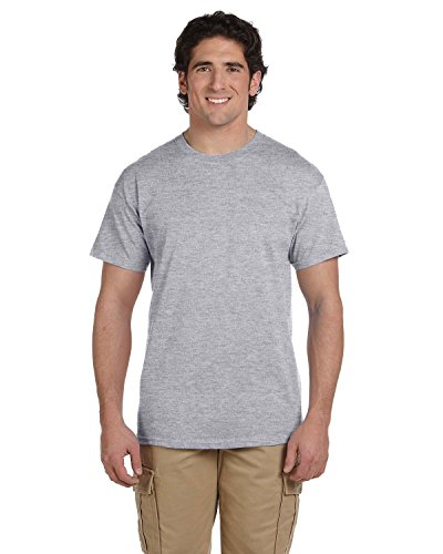 (Fruit of the Loom Adult 5 oz HD Cotton T-Shirt - ATHLETIC HEATHER - 6XL - (Style # 3931 - Original Label) )
