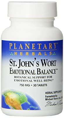 Planetary Herbals St. John's Wort Emotional Balance Tablets, 30 Count