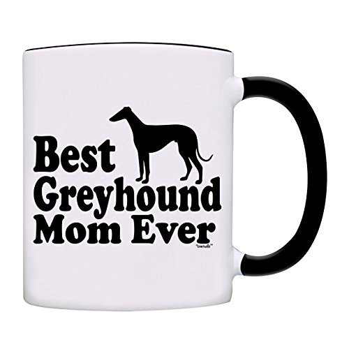 - owndis Best Greyhound Mom Ever Gift Coffee Mug-0088-Black