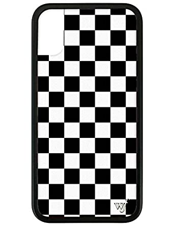 Wildflower Limited Edition iPhone Case for iPhone X and XS (White & Black Checkered)