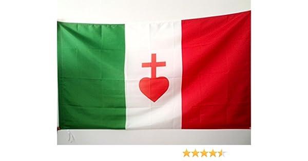 AZ FLAG Bandera de Italia CORAZÓN Sagrado 150x90cm para Palo ...