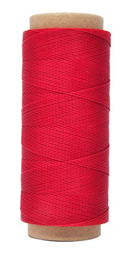 Mandala Crafts 0.45mm Leather Sewing Hand Stitching Jewelry Craft Round Waxed Thread String Cord (0.45mm, Red) - $9.99