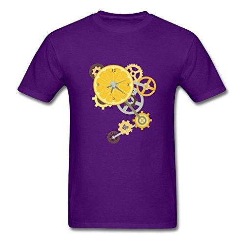 Men Short Sleeves Clockwork Orange Painting For Creative Short Sleeve T-shirt-purple ()