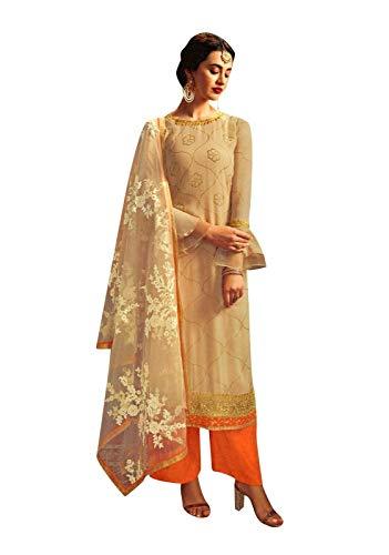ladyline Jacquard Silk Wedding Partywear Salwar Kameez Zari Embroidered Indian Dress