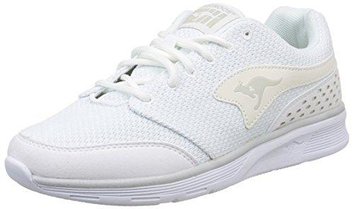 Kangaroos Current - Zapatillas de deporte de otras pieles para mujer Blanco Blanc (White 000) 44: Amazon.es: Zapatos y complementos