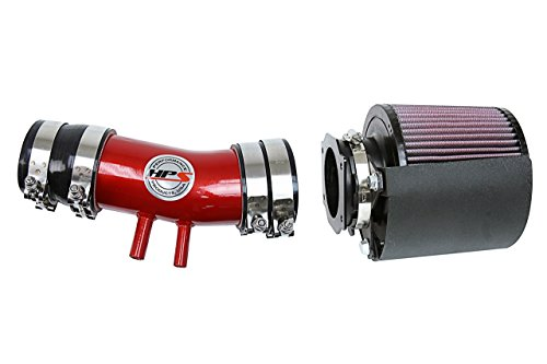 (HPS Shortram Air Intake + Heat Shield (Red) for 00-04 Nissan Xterra 3.3L V6 Non Supercharged)