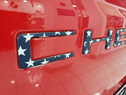 EyeCatcher Pro Series Tailgate Insert Letters fits 2019-2020 Chevrolet Silverado (Pro USA Flag)