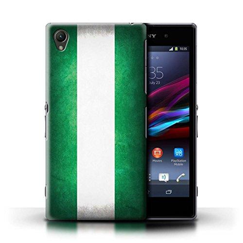 Kobalt® Imprimé Etui / Coque pour Sony Xperia Z1 / Nigeria conception / Série Drapeau