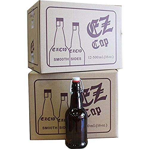 16 oz. EZ Cap Amber Glass Beer Bottles - set of 2 cases by MSS (Image #1)