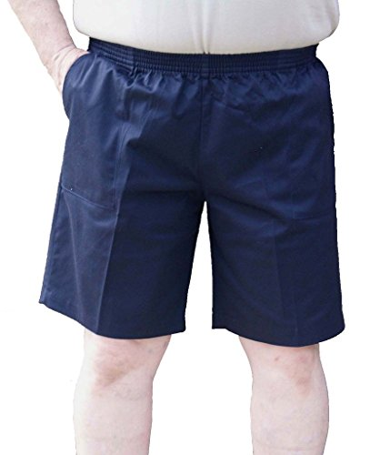 CK Sportswwear The Senior Shop Men's Elastic Waist Twill Walking Short Large Navy ()
