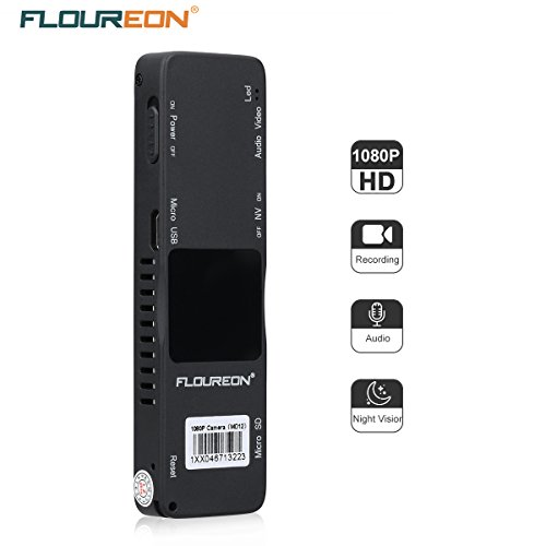 FLOUREON 1080P Mini Camera DV Sports Camcorder Camera