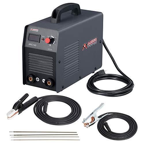 Amico 140 Amp Stick ARC DC Inverter Welder, IGBT Digital Display LCD 110-Volt Welding Soldering Machine, ARC-140