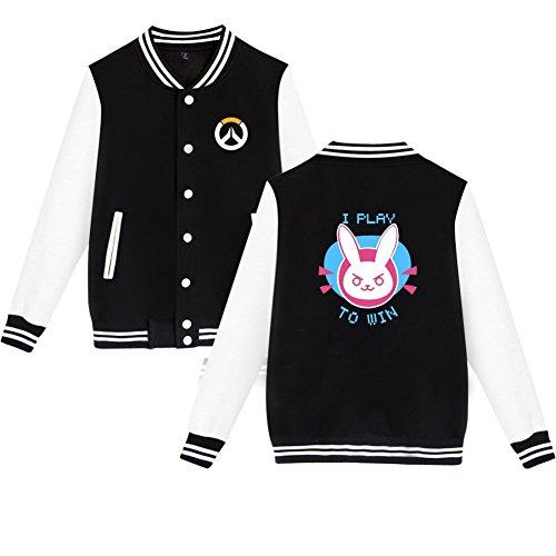 TISEA Unisex Couples Baseball Bunny Cosplay Sweatshirt Costume (M, Black)