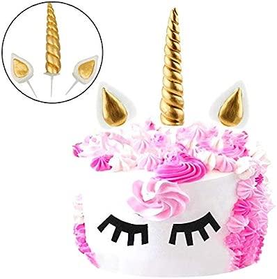 Mattelsen Decoración de Unicornio para Tartas de cumpleaños ...
