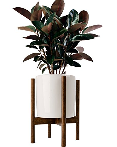 Timeyard Acctractive Mid Century Floor Plant Stand - Solid Wood Indoor Flower Pot Holder - Modern Home Decor (Planter Not Included) - Wood Pot