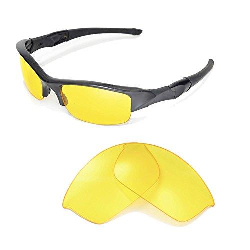 Walleva Replacement Lenses for Oakley Flak Jacket Sunglasse-Multiple Options Available - Flak Oakley Lenses Jacket Replacement