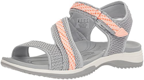 Dr. Scholl's Shoes Women's Daydream Slide Sandal, Frost Grey mesh, 9.5 M US