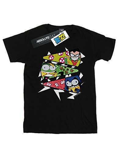 Pizza Titans Go shirt Noir T Dc Comics Garçon Slice Teen wF7WSvHSq