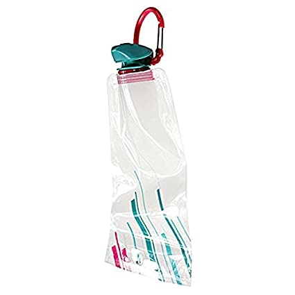 Bolsa de agua - SODIAL(R) 1pzs 700 ML Bolsa de agua reutilizable plegable Botella de bebida Botella de bicicleta BPA de libre Blanco
