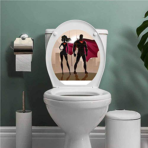 SCOCICI1588 Superhero Cover Decals Stickers Super Woman and Man