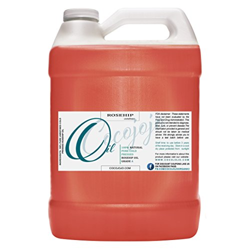 Rosehip Oil for Face Cold Pressed Unrefined 100% Pure Natural Rosehip Seed Oil in Bulk 1 GALLON Premium Therapeutic Grade