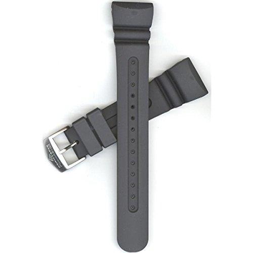 Citizen 59-T50343 Original Black Rubber Watch Band Fits JV0020-12F JV0030-01E JV0020-04E JV0027-05E JV0020-21F JV0030-19F U101-T007961 U107-T007970 T008691 T009093 U101-S050146 U107-S050138