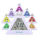 HAMSWAN Digital Alarm Clock for Kids, 7 LED Color Change, Children Clock with Temperature