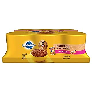 Pedigree Wet Foods Traditional 6 Count Ground Dinner Chopped Beef For Pets