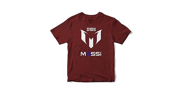 JEMASHOP Camiseta Hombre Granate Inspirada EN Leo Messi. D10S. Logo ...