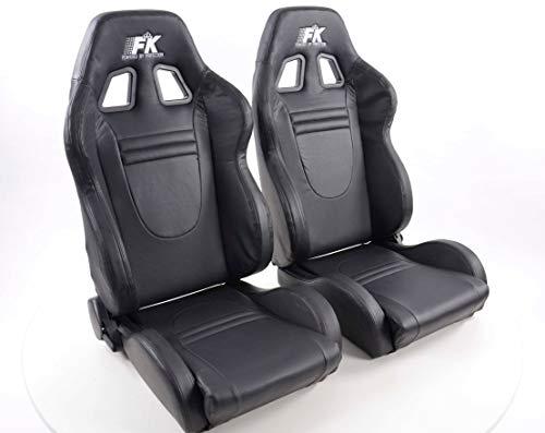 Pair of Ergonomic Performance FK sport seats half bucket seats Set Racecar with heating and massage: