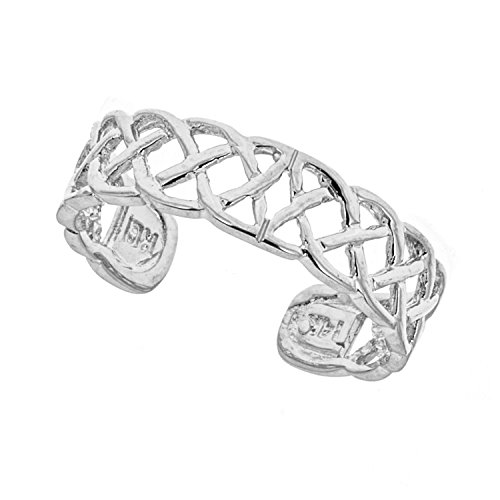 14k Solid White Gold Toe Ring Body Art Adjustable