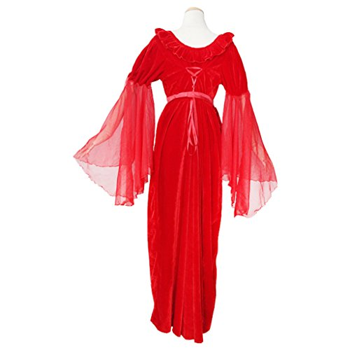 Ärmeln Cosplayitem Gothic Kostüm Rot Damen Rot Mittelalterlichen Kleid Viktorianischen Langen Maskerade SSH8wUq
