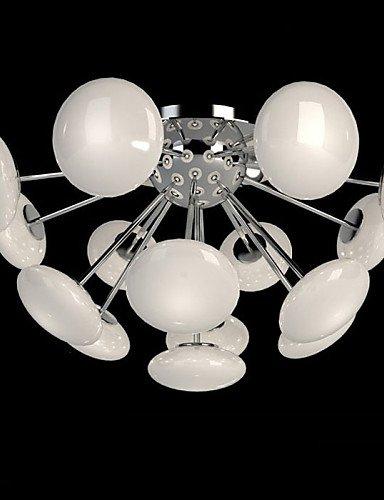 Modern LED Ceiling lampModernYestaurant Lamp Simple Circular Glass art Pendant Lamp European Style led , warm (Glass Corded Pendant Lamp)