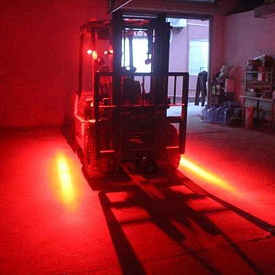 LY8 30W LED Forklift Safety Light Warehouse Danger Area Light Red Zone Warning Lights 10-80V(1Pcs): Automotive