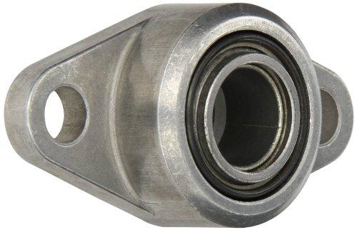 Spyraflo HF3-18M-LT Aluminum 2-Bolt Hole, Housing-Flange with a 18 millimeter Inner-Diameter, Self-Aligning, High Performance PTFE Impregnated Bronze - Housing Inner Flange Diameter