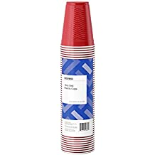 Amazon Brand - Solimo 18oz Disposable Plastic Cups, 50 Count, Red
