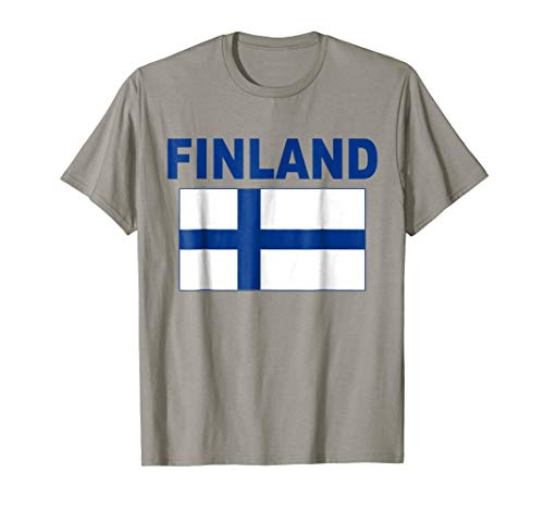 Mens Finland Flag T-Shirt Cool Finnish Suomi Flags Gift Top Tee Large Slate