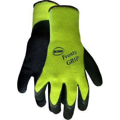 Glove Rubber Insulated Boss - Boss Gloves 8439NX Extra Large Frosty Grip Gloves