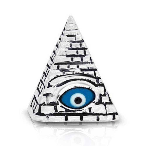 Masonic Glass Evil Eye Stelring Silver - Conspiracy Glasses