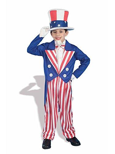 Forum Novelties Patriotic Party Uncle Sam Costume, Child Large