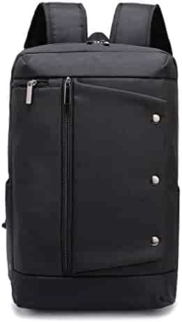 e77e84a056bf Weekend Shopper Black Laptop Backpack College School Bookbag Travel  Computer Backpack for Men and Women Fit