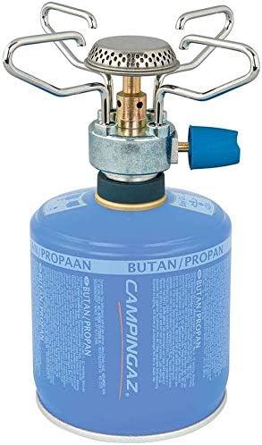 ALTIGASI Hornillo de gas de camping Bleuet Micro Plus – Marca Campingaz + 2 cartuchos de gas CV 300 con sistema extraíble – Producto ideal para ...