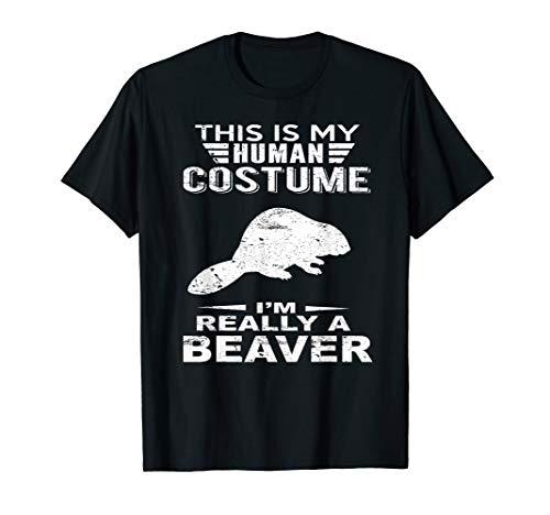 Super Halloween Costume Beaver Tshirt Heart For Kids Adults]()