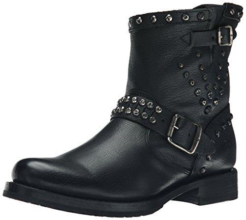 - FRYE Women's Veronica Stud Moto Short Motorcycle Boot,  Black, 10 M US
