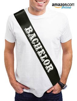 Bachelor Party Sash – Perfect Gift for Groom, Stag or Buck's Do. Black and White Satin Bachelor Sash fits all sizes | Party in Style & Be Seen! Embarrass your Bachelor with this great gift idea for th (Bachelors Party Ideas)